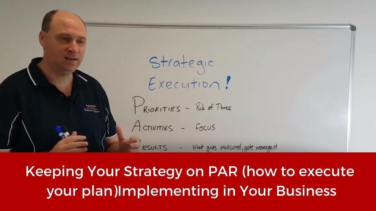 Keeping Strategy on PAR