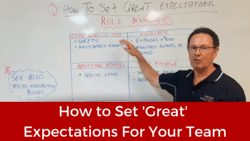 Business Coaching - How to Set 'Great' Expectations For Your Team